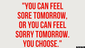 Feel sore or feel sorry